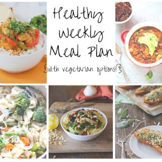 Healthy Weekly Meal Plan Week of 2.6.16