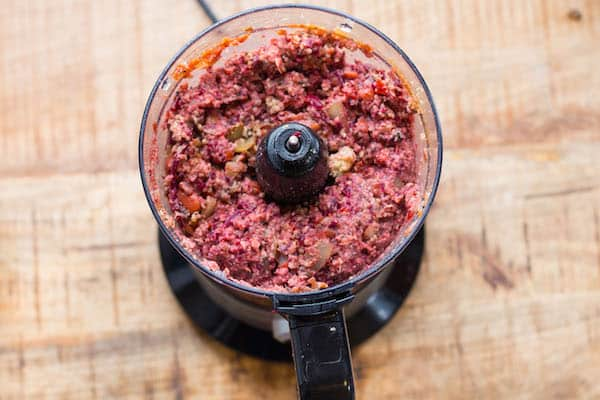 Smoky Beet and Quinoa Veggie Burgers - in the Mixer Already Mixed