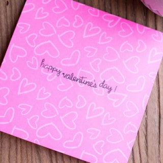 Valentine's Day Footprint Craft