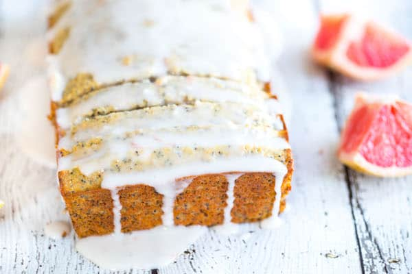 Yogurt Grapefruit Poppy Seed Bread
