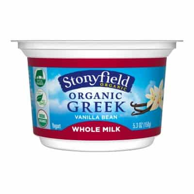 Stonyfield Whole Milk Greek Yogurt
