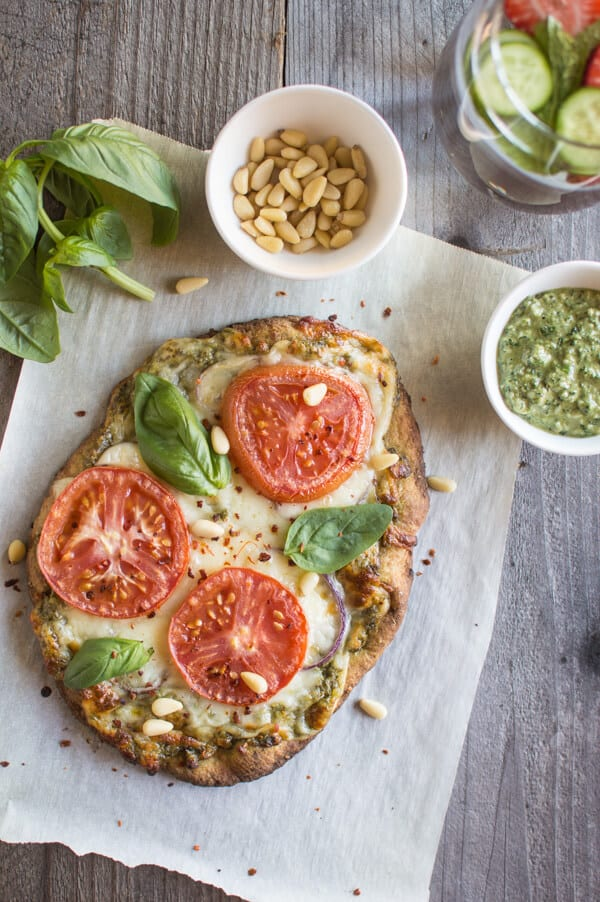 Carrot Top Pesto Pizza
