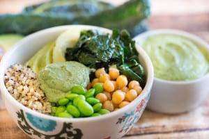 Green Goddess Quinoa Bowls - Peas and Quinoa Looking Good Inside that Bowl