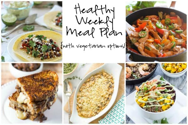 Healthy Weekly Meal Plan Week of 3.12.16