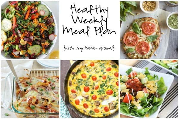 Healthy Weekly Meal Plan Week of 3.19.16