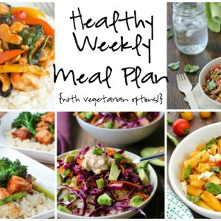 Healthy Weekly Meal Plan Week of 3.5.16