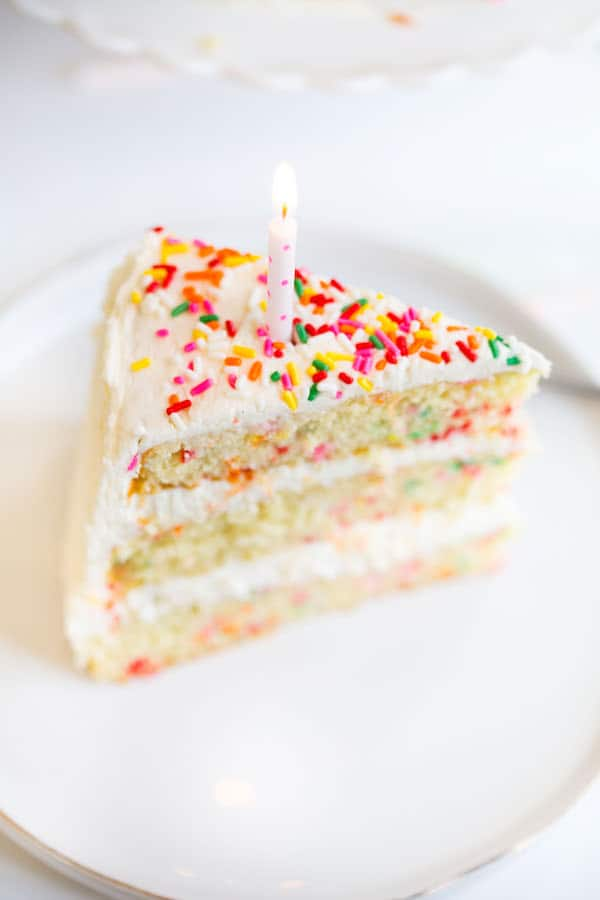 Homemade Funfetti Birthday Cake