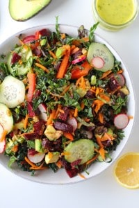 Spring Cleaning Detox Salad with Lemon Parsley Dressing