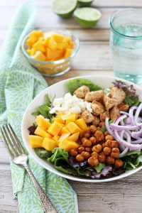 Chicken Chickpea Mango Salad