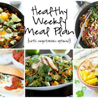 Healthy Weekly Meal Plan Week of 4.16.16