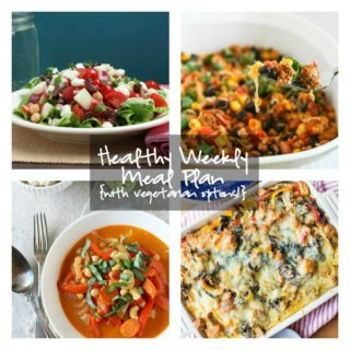 Healthy Weekly Meal Plan Week of 4.23.16