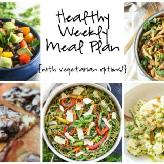 Healthy Weekly Meal Plan Week of 4.30.16