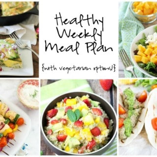 Healthy Weekly Meal Plan Week of 4.9.16