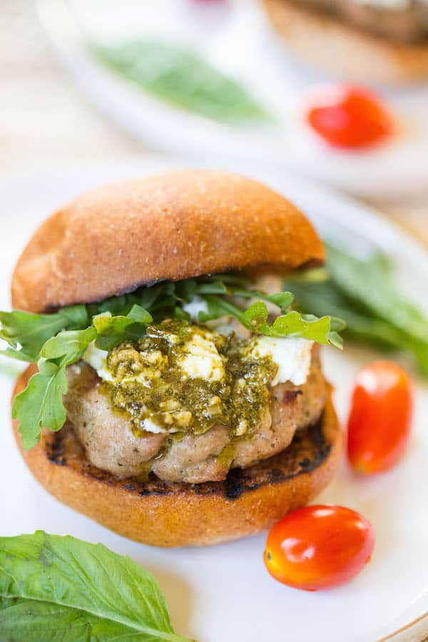 Pesto Turkey Burger