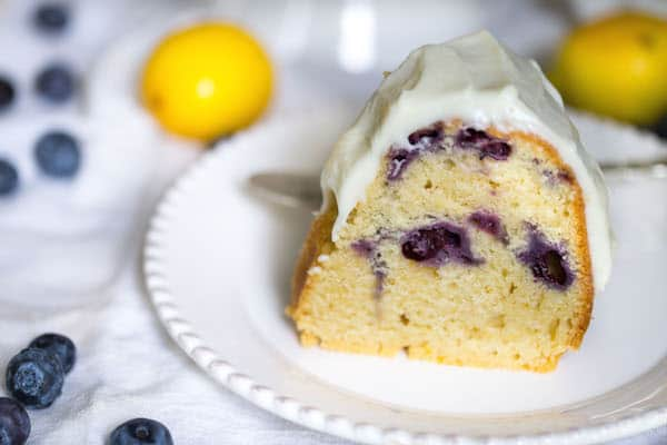 Lemon Blueberry Bundt Cake with Cream Cheese Frosting-