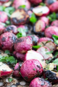 Butter and Herb Garlic Grilled Radishes