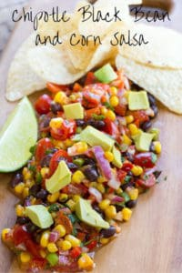 Chipotle Black Bean and Corn Salsa