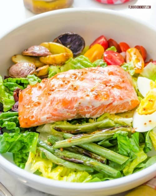 Grilled Salmon Nicoise Salad | Healthy Weekly Meal Plan