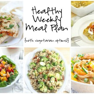 Healthy Weekly Meal Plan Week of 5.7.16