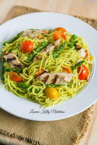 Chicken and Spaghetti in Avocado Cream Sauce | Healthy Weekly Meal Plan