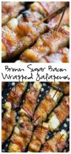 Brown Sugar Bacon Wrapped Cream Cheese Stuffed Jalapenos