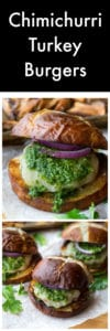 Chimichurri Turkey Burgers