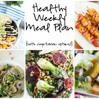 Healthy Weekly Meal Plan Week of 6.11.16