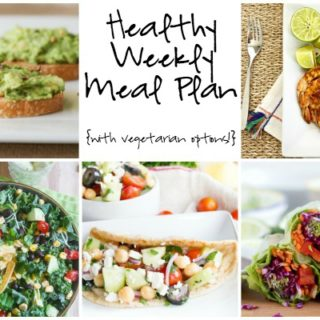 Healthy Weekly Meal Plan Week of 6.25.16