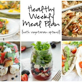 Healthy Weekly Meal Plan Week of 7.2.16