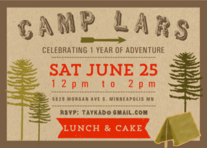 Camp Lars Invitations
