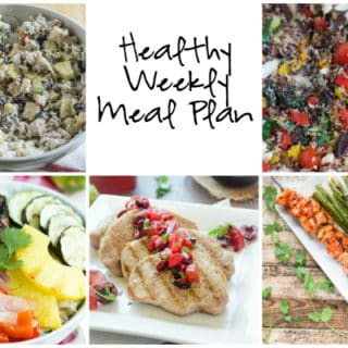 Healthy Weekly Meal Plan Week of 7.23.16