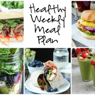 Healthy Weekly Meal Plan Week of 7.30.16