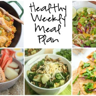 Healthy Weekly Meal Plan Week of 8.20.16