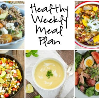 Healthy Weekly Meal Plan Week of 8.27