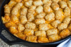 Buffalo Chicken Tator Tot Casserole
