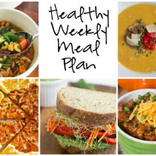 Healthy Weekly Meal Plan Week of 10.1.16