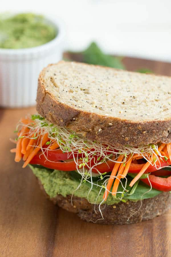 Ultimate Veggie Hummus Sandwich
