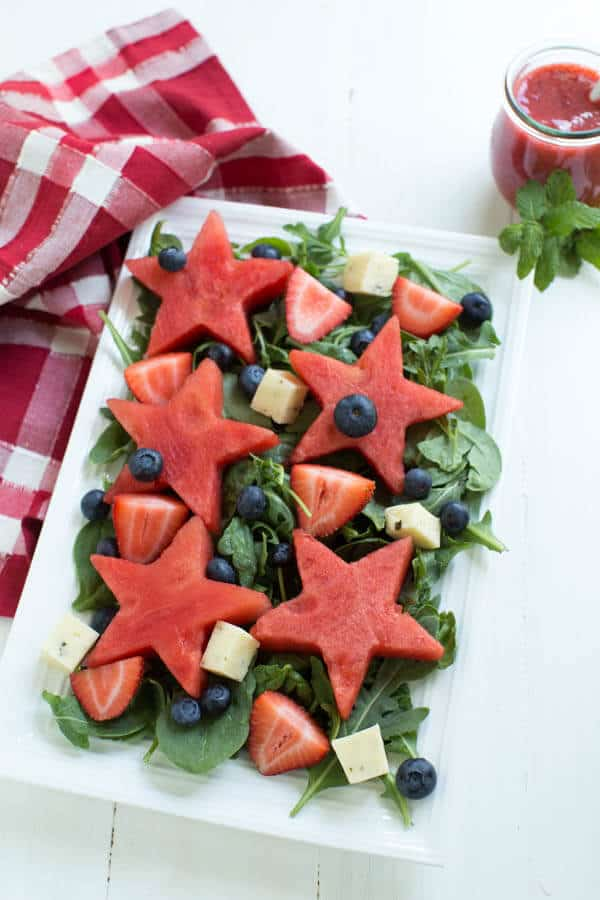 Watermelon Berry Salad   Healthy Weekly Meal Plan