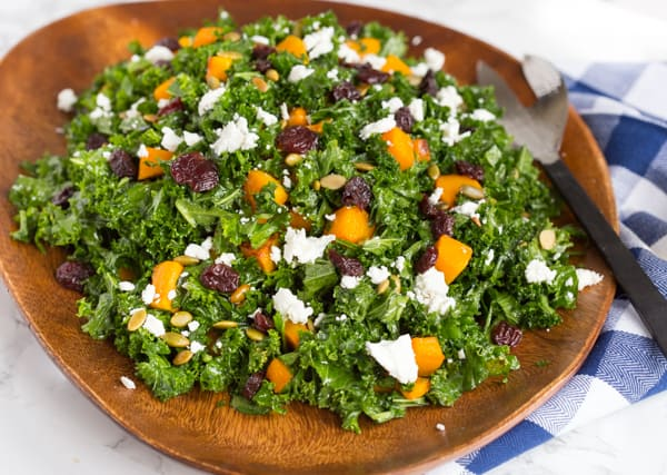 Autumn Butternut Squash and Kale Salad