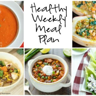 Healthy Weekly Meal Plan Week of 10.8.16