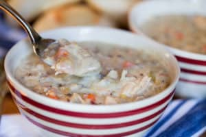 Slow Cooker Creamy Turkey Wild Rice Soup