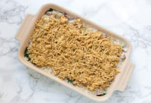 Creamed Kale Gratin on the Marble Table