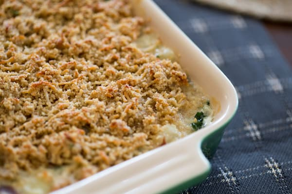 Creamed Kale Gratin Closeup on the Yummy Texture