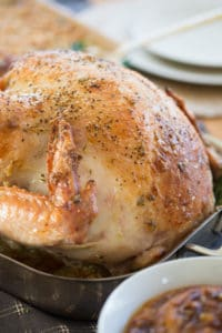 Garlic and Herb Mayonnaise Roasted Turkey - Crispy and Juicy
