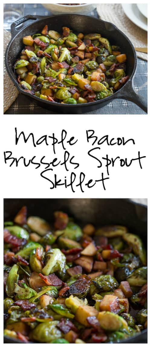 Maple Bacon Brussels Sprout Skillet Greens Amp Chocolate