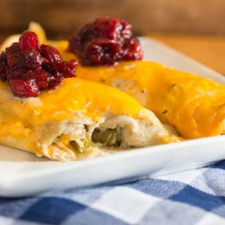 Thanksgiving Leftovers Enchiladas