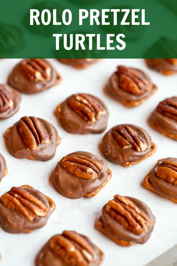 Rolo Pretzel Turtles collage with text overlay