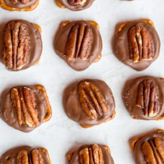Rolo Pretzel Turtles overhead shot