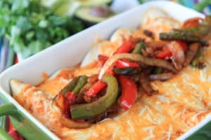 Steak Fajita Enchiladas