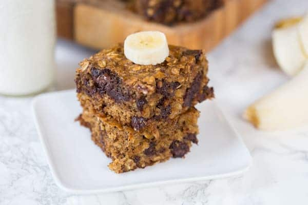 Dark Chocolate Banana Oat Bars